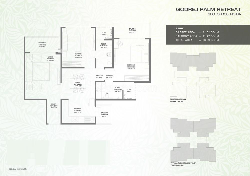 Godrej Palm Retreat Floor Plan