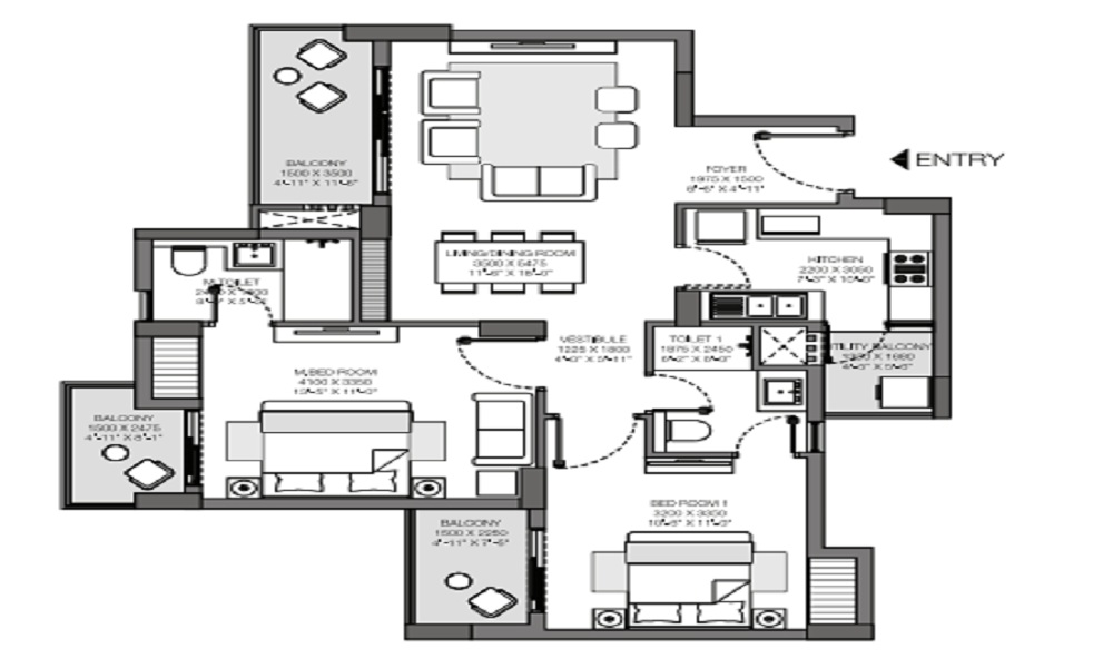 Godrej South Estate Floor Plan