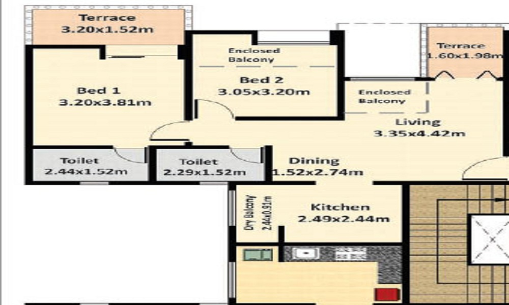 Nyati Erica Floor Plan