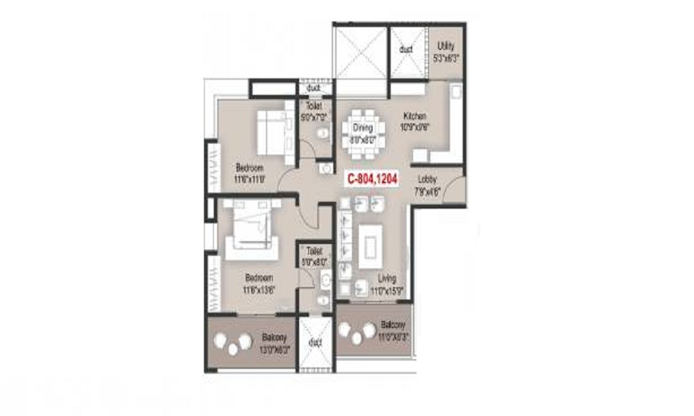 Mantra Grandstand Trinity Floor Plan