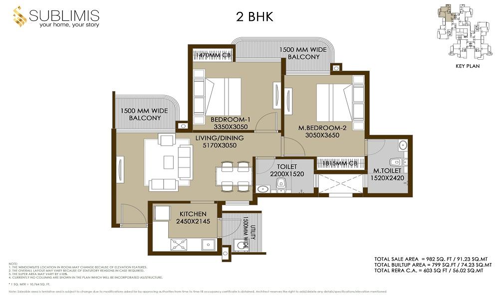 CRC Sublimis Floor Plan