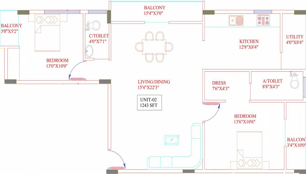 Maruti Squirrel Oaks Floor Plan