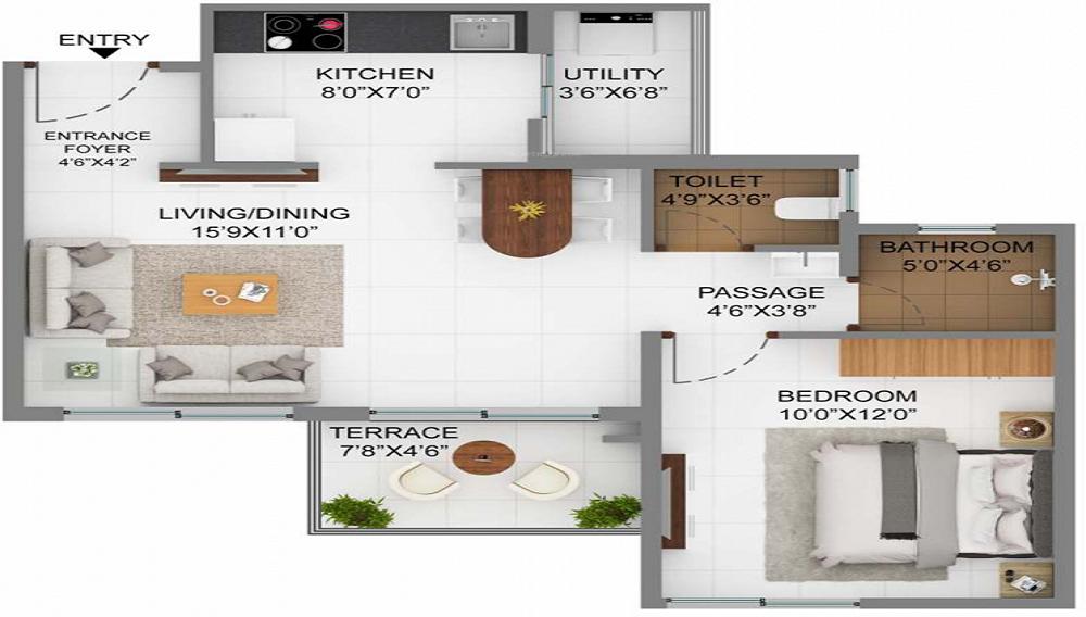 Joyville Hinjawadi Floor Plan