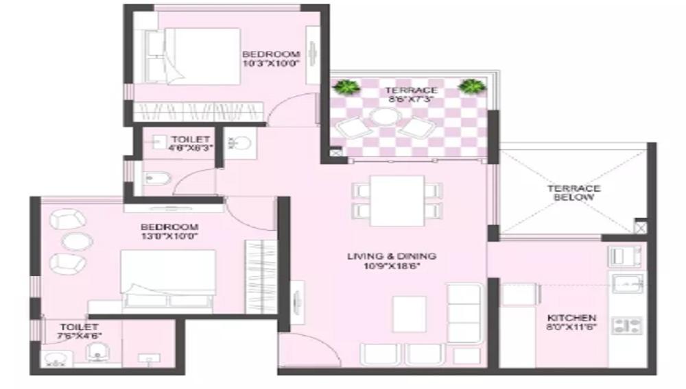 Metro Life Maxima Residences Floor Plan