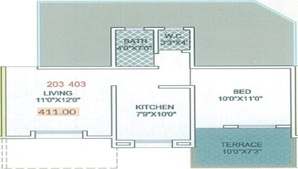 Sairaj Residency Floor Plan