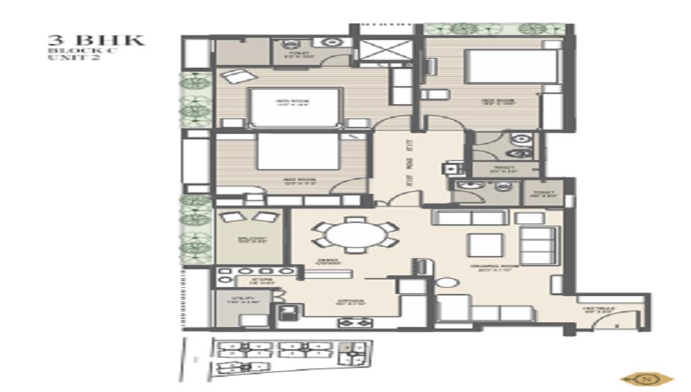Surya Emerald Floor Plan