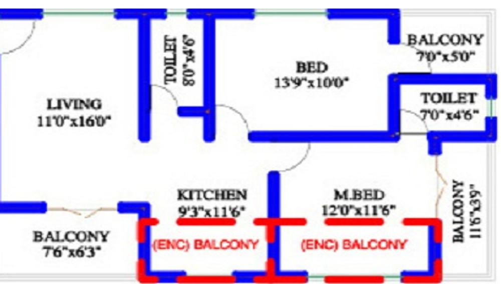 Krishna Angan Floor Plan