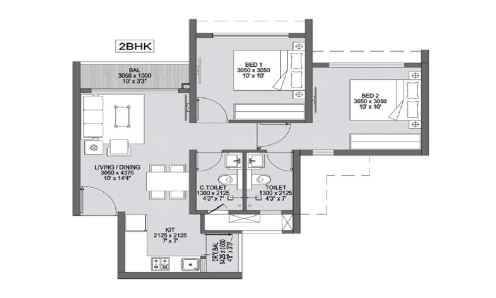 Godrej Park Greens Floor Plan