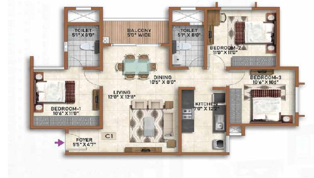 Prestige Finsbury Park Regent Floor Plan