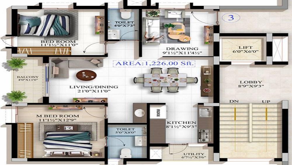 Sri Sai Soukya Floor Plan
