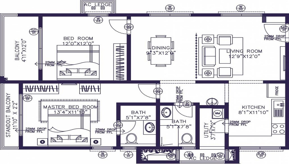 NSL East County Floor Plan