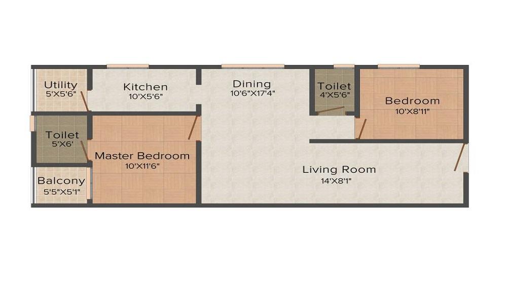 Modi Emerald Heights Floor Plan