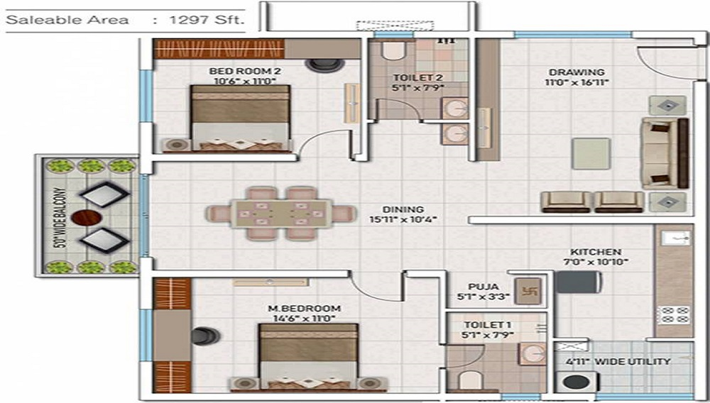 My Home Mangala Floor Plan