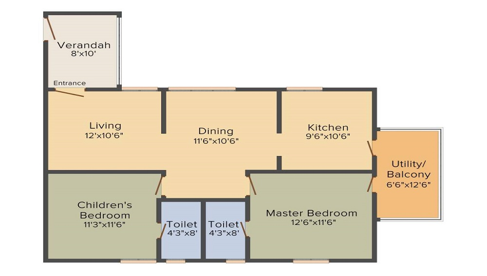 Lahari Twins Floor Plan