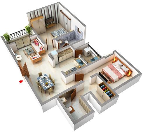 Sobha City Bangalore Floor Plan