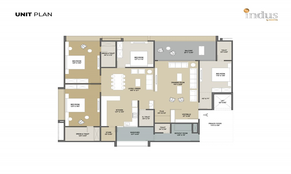 The Indus By Sheetal Floor Plan