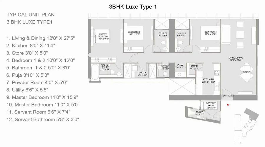 Lodha Marquise Floor Plan