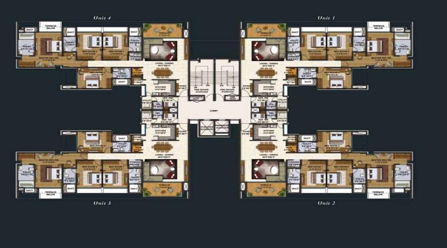 Lodha Belmondo St Andrews E Floor Plan