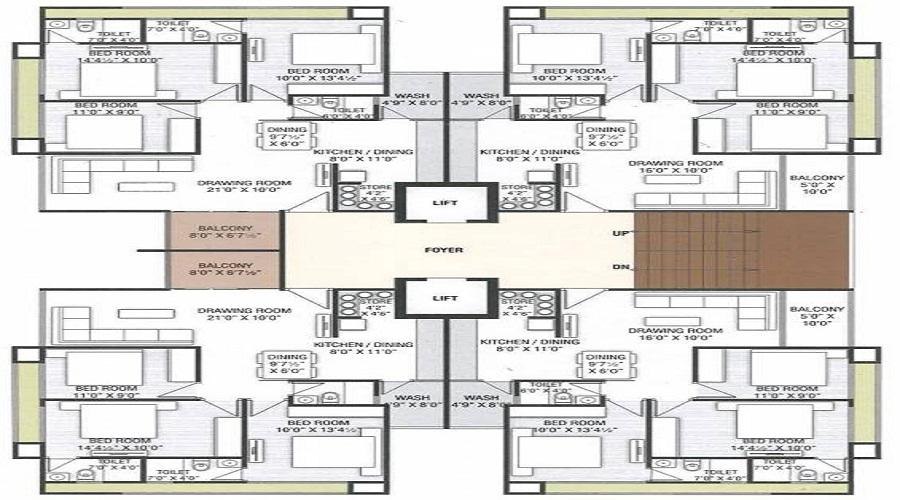 Satva Nirman Heights Floor Plan