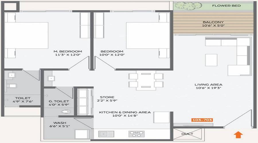 Bansari Height 2 Floor Plan