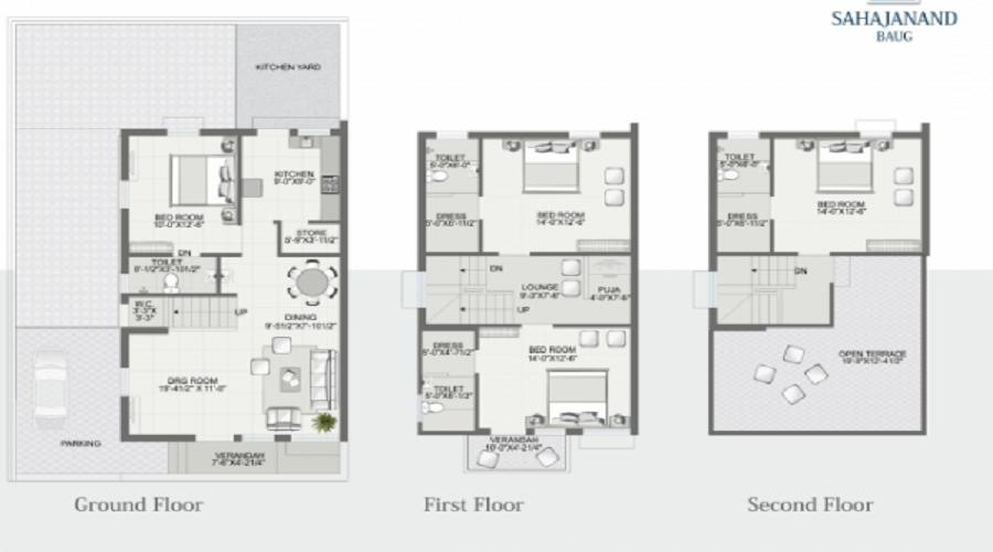 Shiv Sahajanand Baug Floor Plan