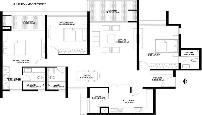 Godrej United Floor Plan