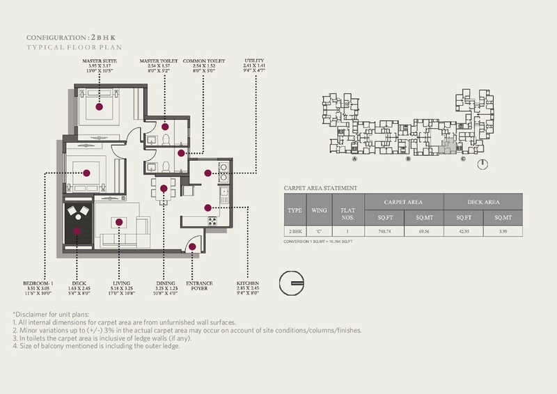 Hiranandani Codename Milestone Floor Plan