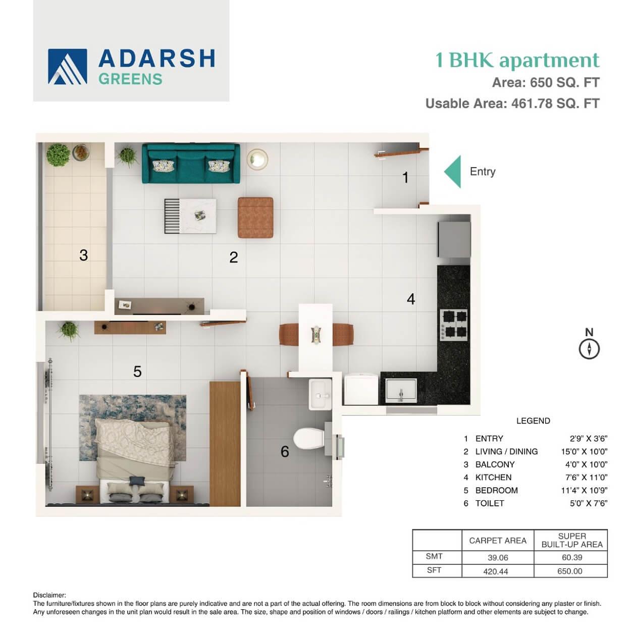 Adarsh Greens Floor Plan