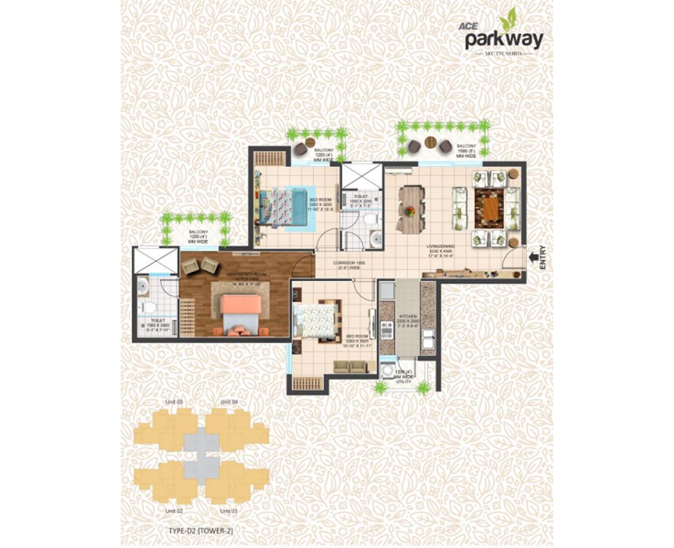 Ace X Residences Floor Plan