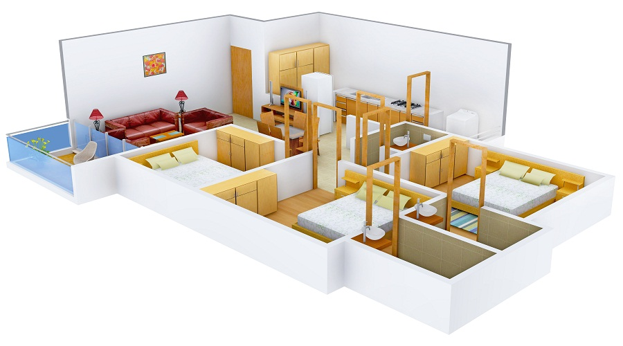 Sahjanand Group The Sky Villa Floor Plan