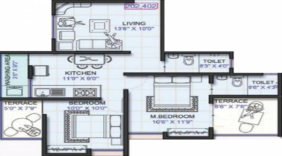 Omkar Serenity Floor Plan