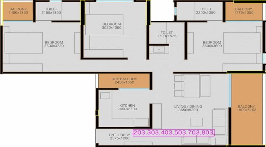 Aarav Sheraton Floor Plan