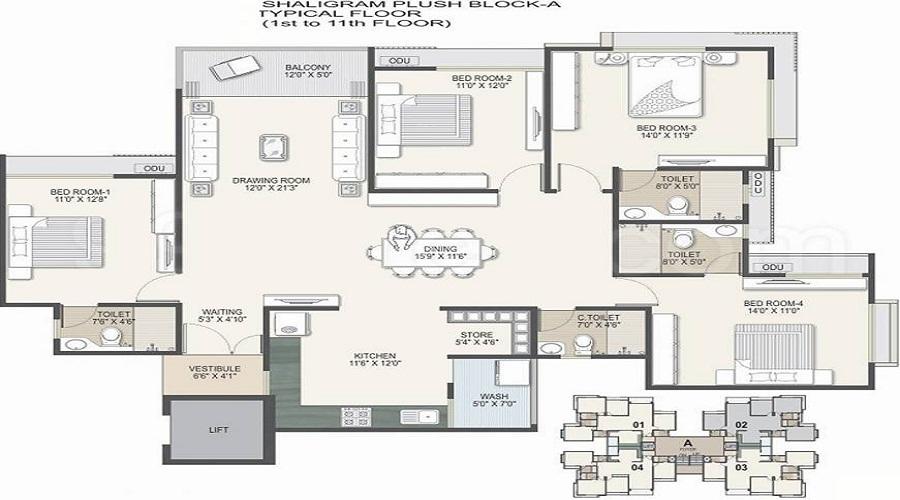 Shaligram Plush Floor Plan