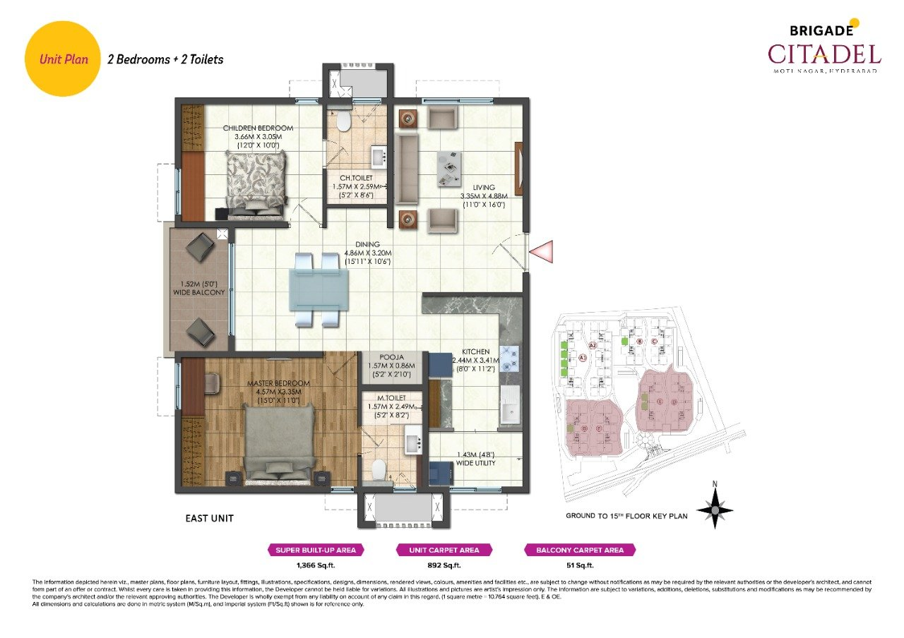 Brigade Citadel Floor Plan