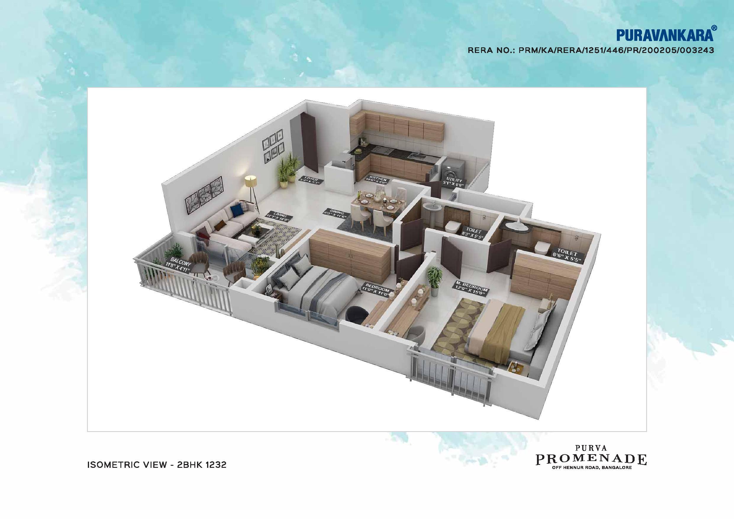 Purva Promenade Floor Plan