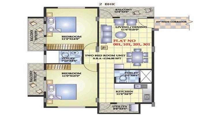 Aashrayaa Marvel Floor Plan