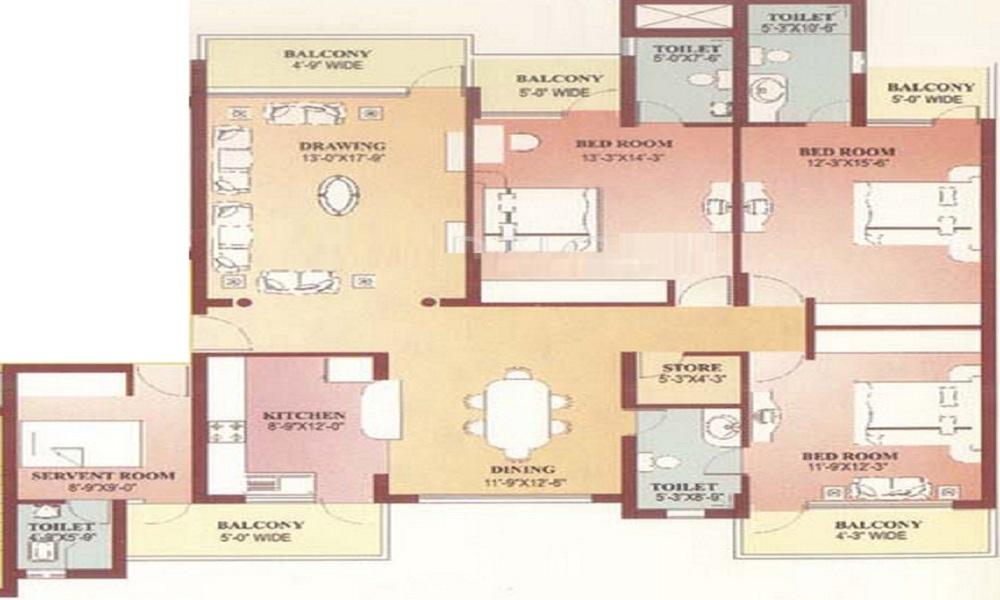 Parsvnath Panorama Floor Plan