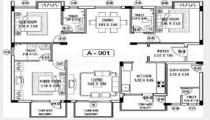Abhinav Projects Amara Courtyard Floor Plan