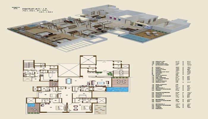 Ajmera Green Acres Floor Plan