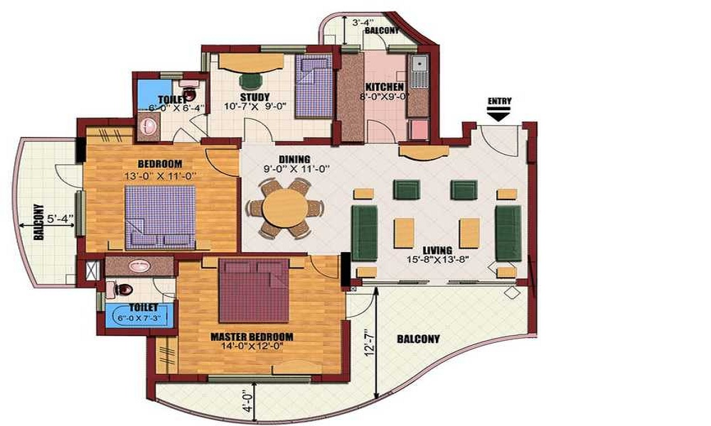 Eldeco Utopia Floor Plan