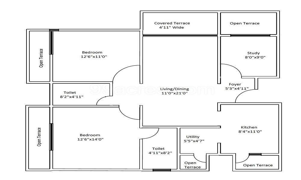 Brigade Golden Magic Block Floor Plan