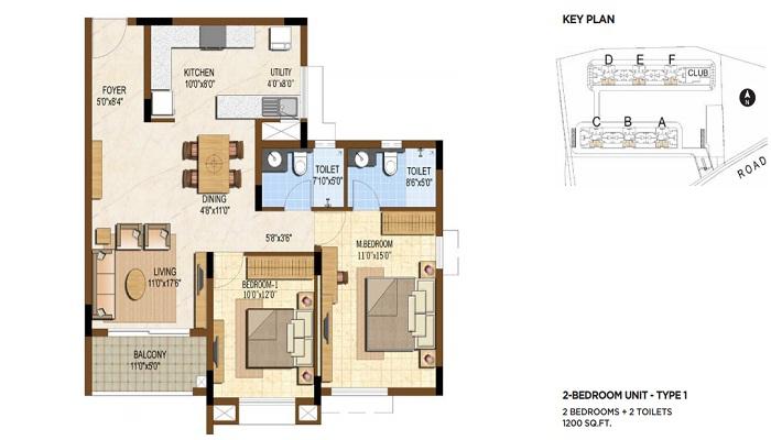 Brigade Golden Triangle Floor Plan