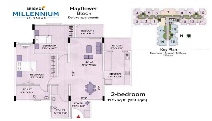 Brigade Millennium Floor Plan