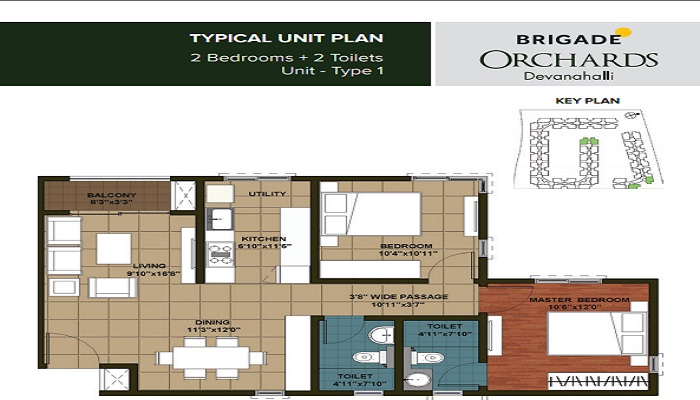 Brigade Orchards Floor Plan