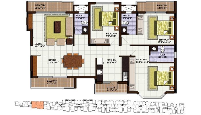Century Linea Floor Plan