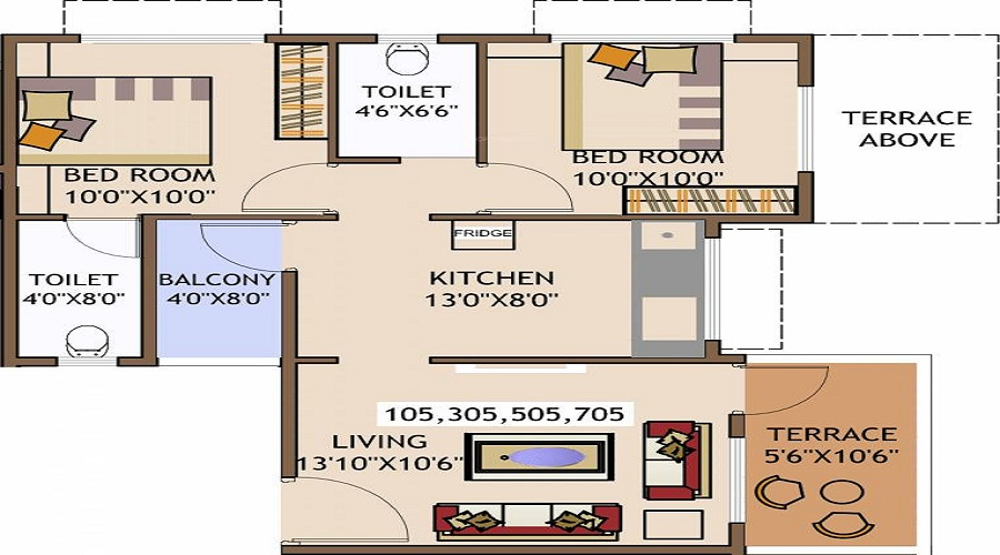 Anmol Nayantara Heights Floor Plan