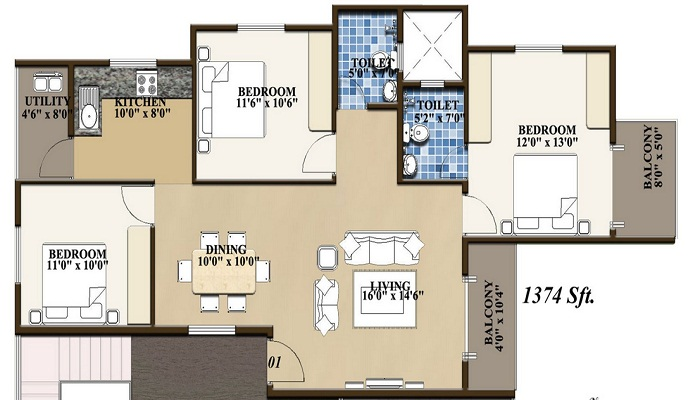 Confident Group Phoenix Floor Plan