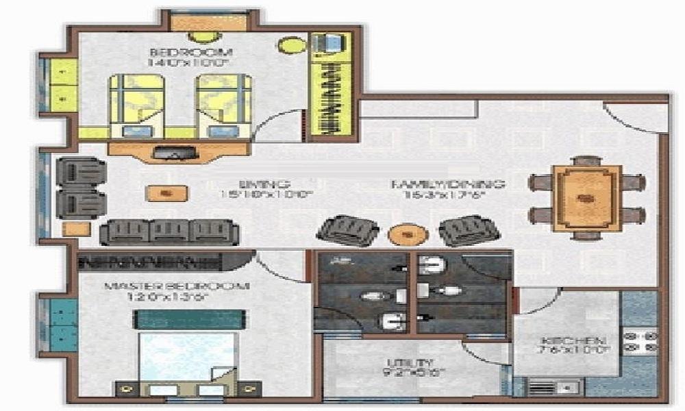 Daya MK Santara Magan Place Floor Plan