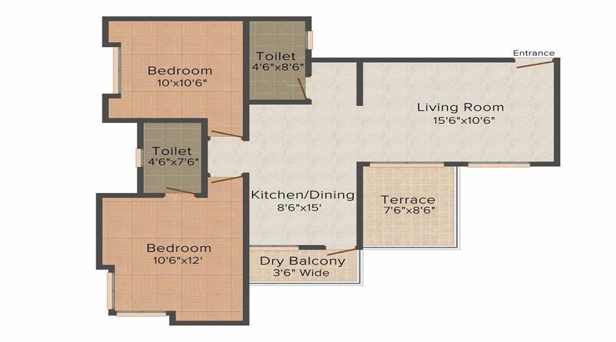 Anmol Nayantara Heights Gultekdi Floor Plan