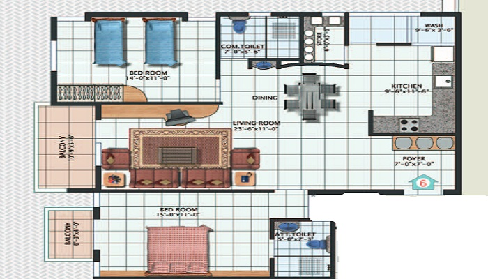 DSR Pride Floor Plan